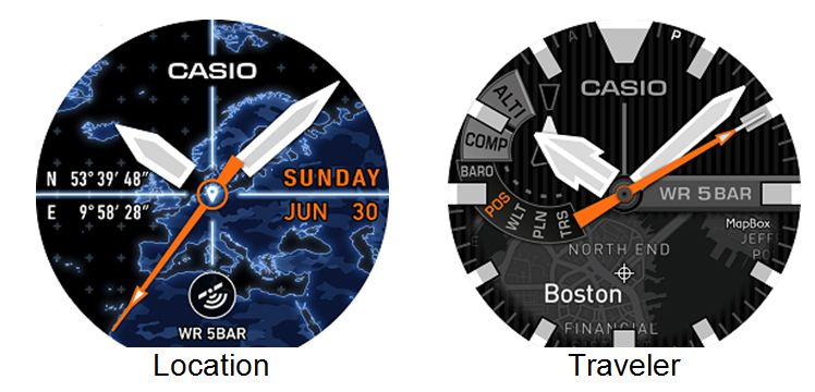 WSD-F20 Smart Outdoor Watch Location and Traveler Face