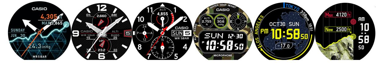 WSD-F20 Smart Outdoor Watch Additional Watch Faces