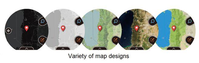 WSD-F20 Smart Outdoor Watch Map Designs