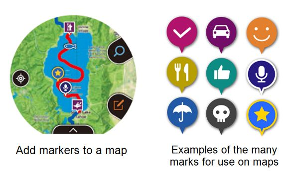 WSD-F20 Smart Outdoor Watch Map Markers