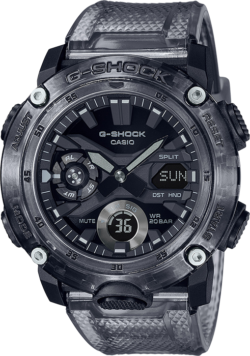 GA2000SKE-8A in black/clear