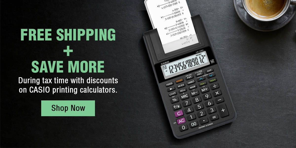 Printing Calculator Banner