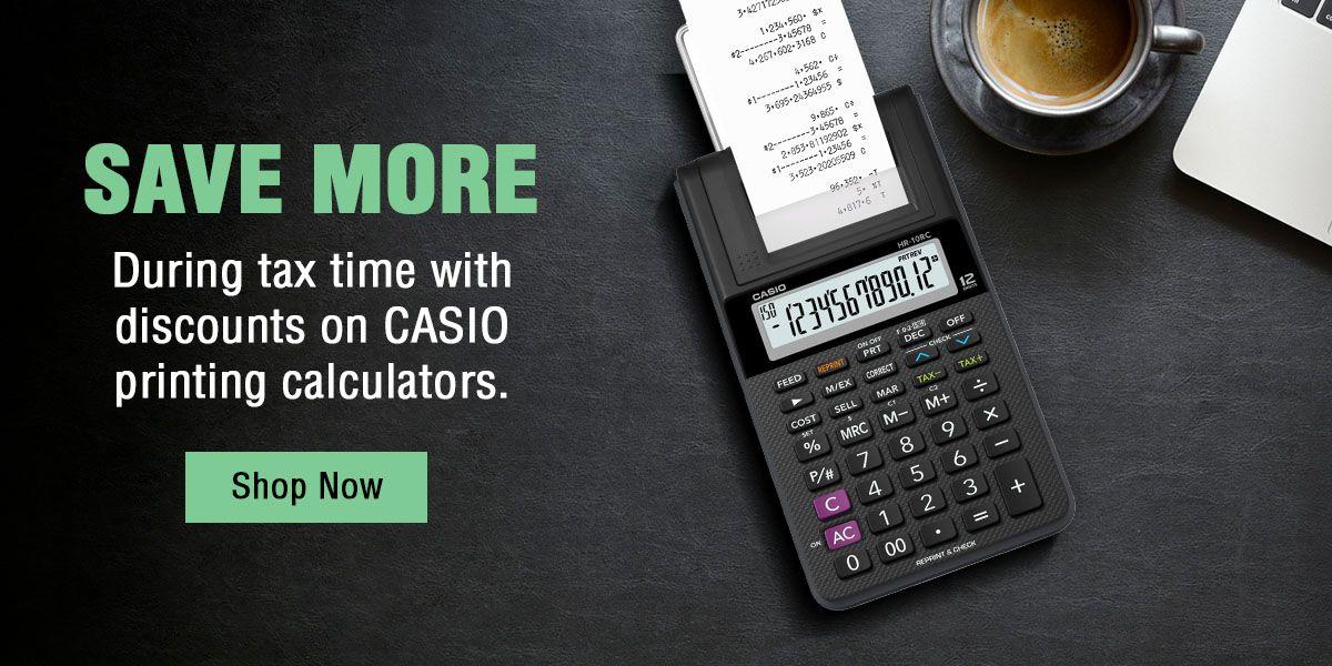 Printing Calculator Banner