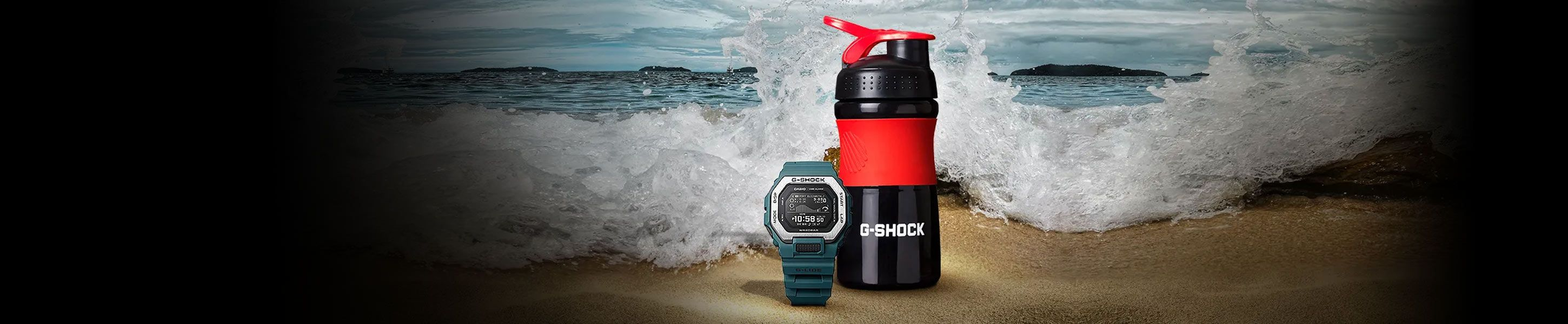Get your FREE exclusive G-SHOCK branded water bottle with purchase of select G-SHOCK watches. Hurry, while supplies last!