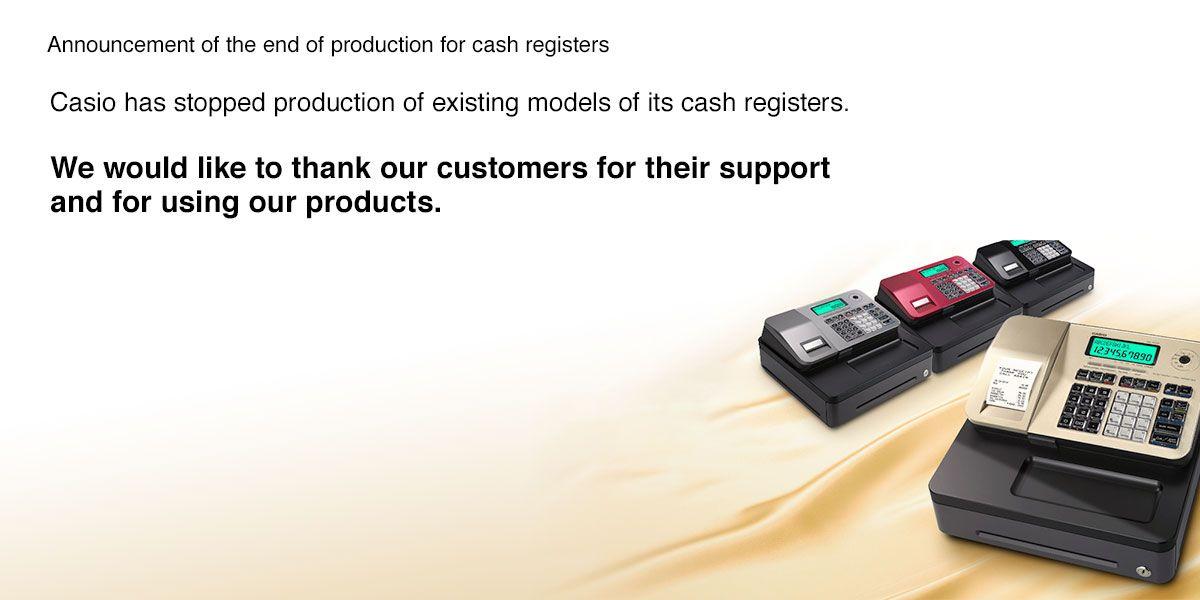 Cash registers End of Production Announcement