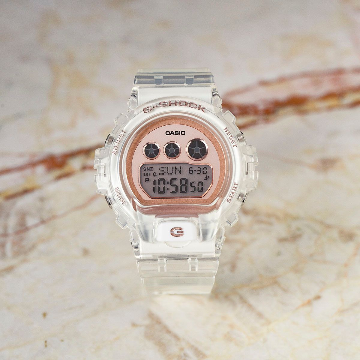 gshock transparent-rose-gold