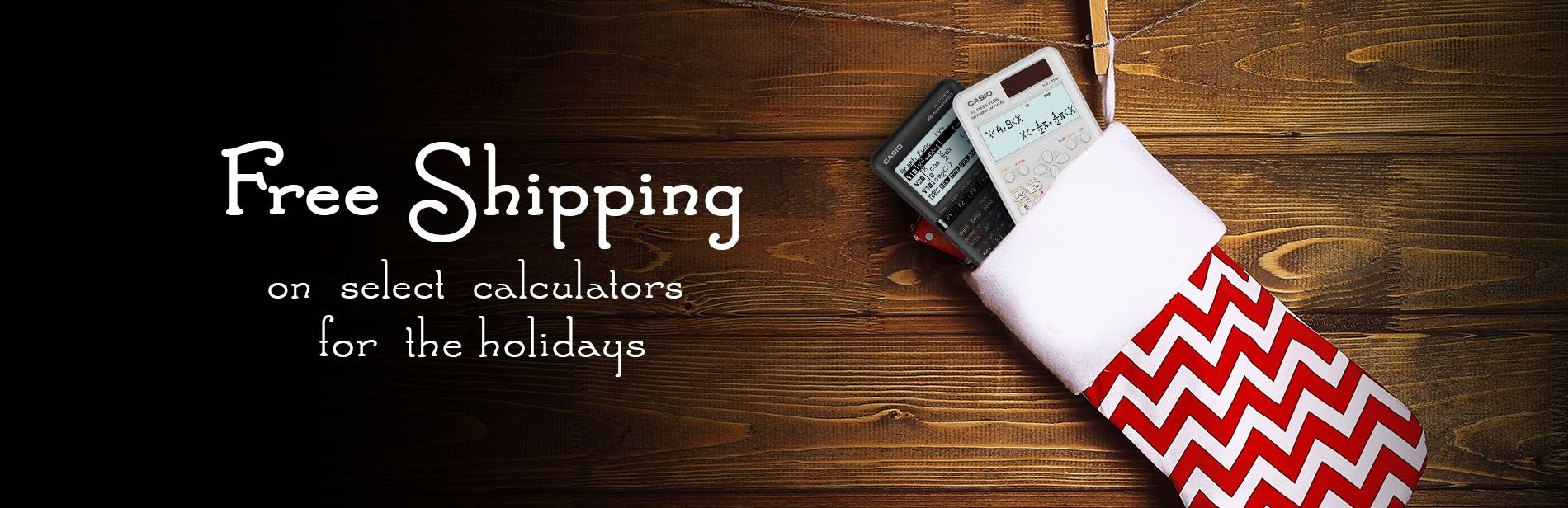 Free shipping on select calculators for the holidays