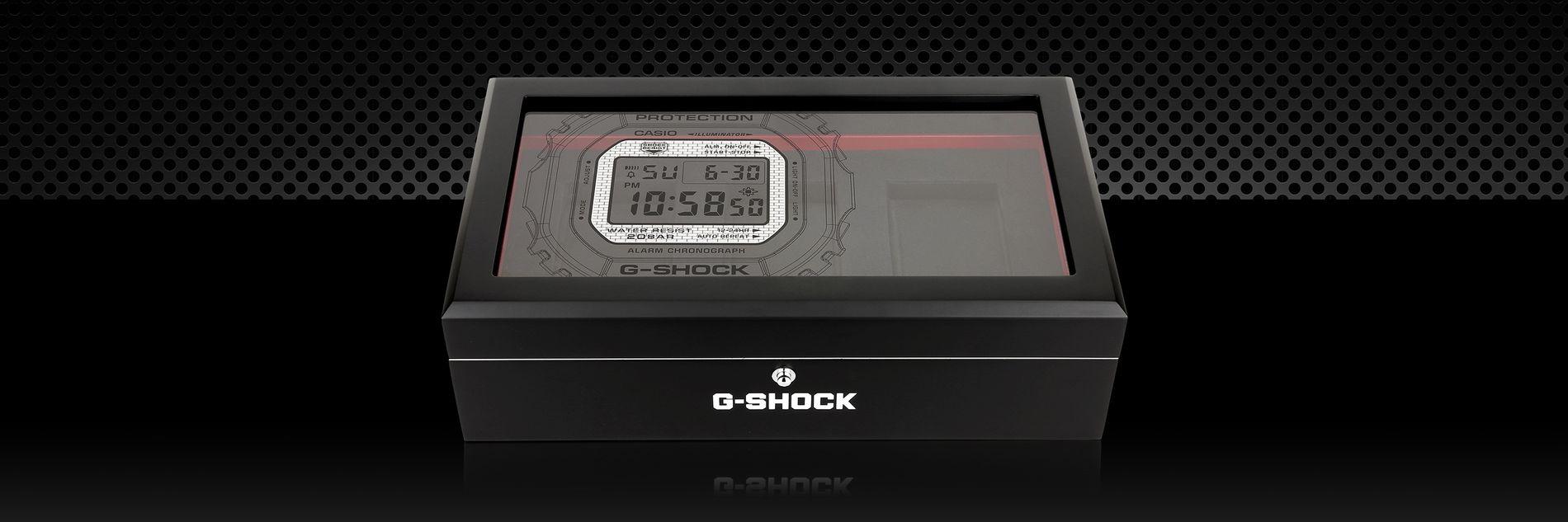 image of G-SHOCK branded display case