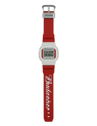 DW5600BUD20 vertical band with Budweiser logo type